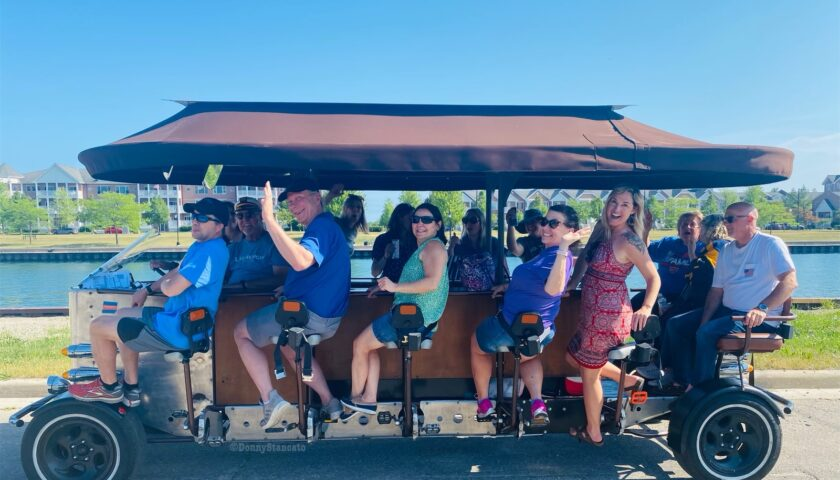 Join the all-new pedal party in downtown!