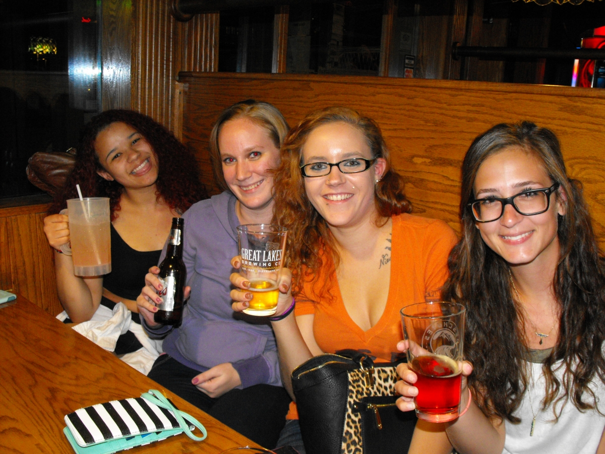 Korriana, Ashleigh, Micaela, & Nicole at The Boathouse