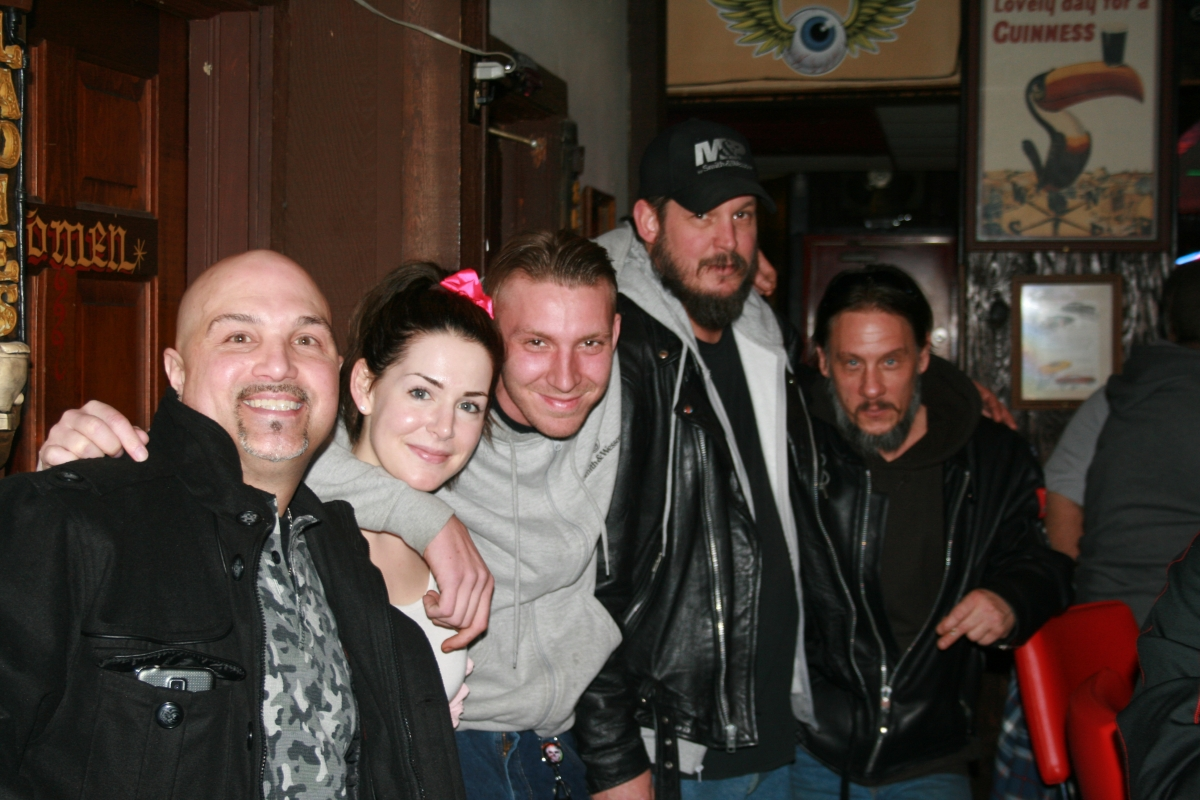 Art, Ricky, Naked Dave, Crow, & Charlene at Hills Hotrod Hideout
