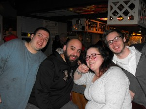 Zach, Mike, Jennifer, & Gott at George's Club Highview