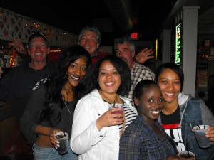 Amber, Lisa, Emma, Tiffany, Rex, Bill, & Jethro at George's Club Highview